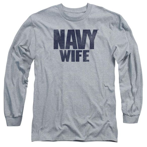 Navy Wife Long Sleeve Adult Athletic T-Shirt