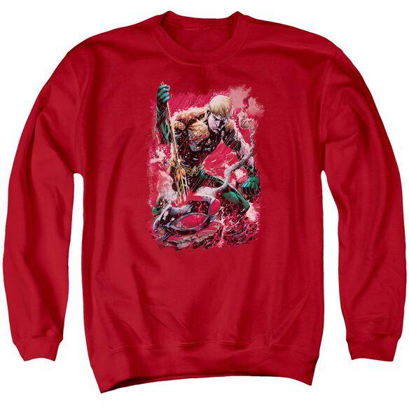 Jla Finished Adult Crewneck Sweatshirt