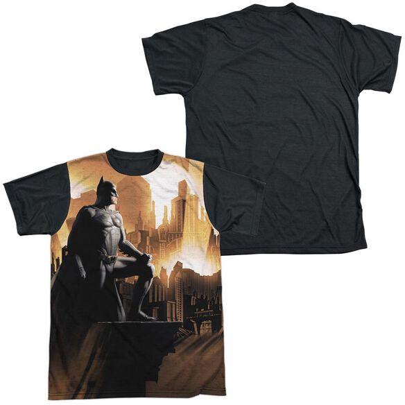 Batman Begins My City Short Sleeve Adult Front Black Back T-Shirt