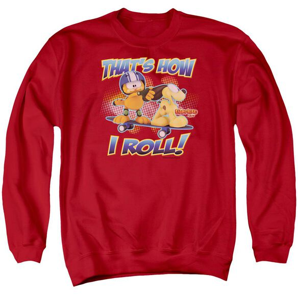 Garfield How I Roll Adult Crewneck Sweatshirt