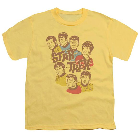 Star Trek Retro Illustrated Crew Short Sleeve Youth T-Shirt
