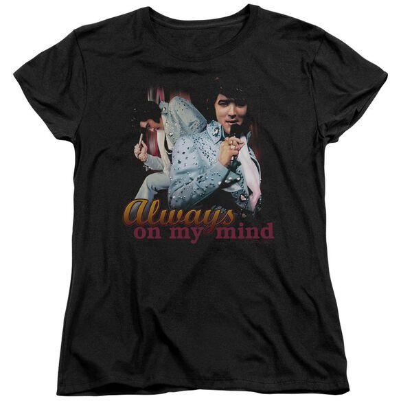 Elvis Always On My Mind Short Sleeve Womens Tee T-Shirt