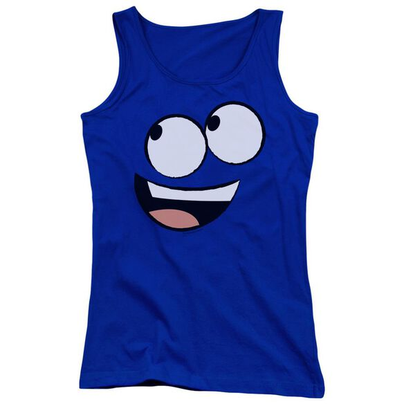 Fosters Face Juniors Tank Top Royal