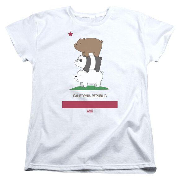 We Bare Bears Cali Stack Short Sleeve Womens Tee T-Shirt