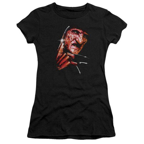 Nightmare On Elm Street Freddys Face Hbo Short Sleeve Junior Sheer T-Shirt