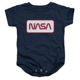 Nasa Rectangular Logo Infant Snapsuit Navy
