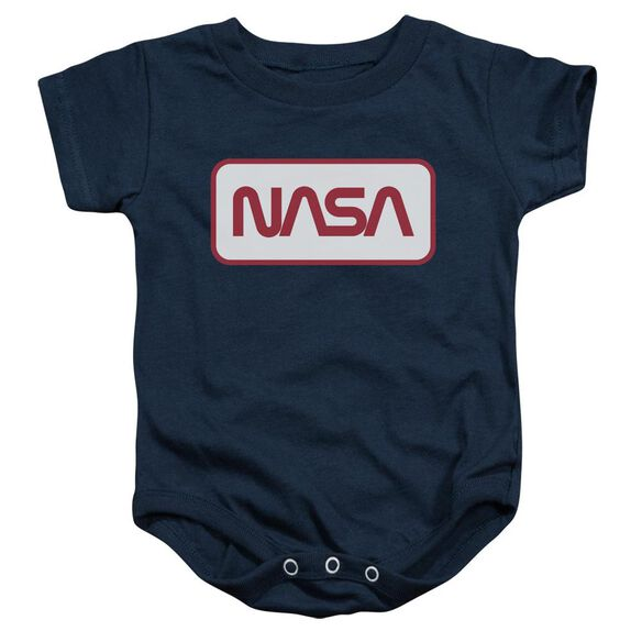 Nasa Rectangular Logo Infant Snapsuit Navy