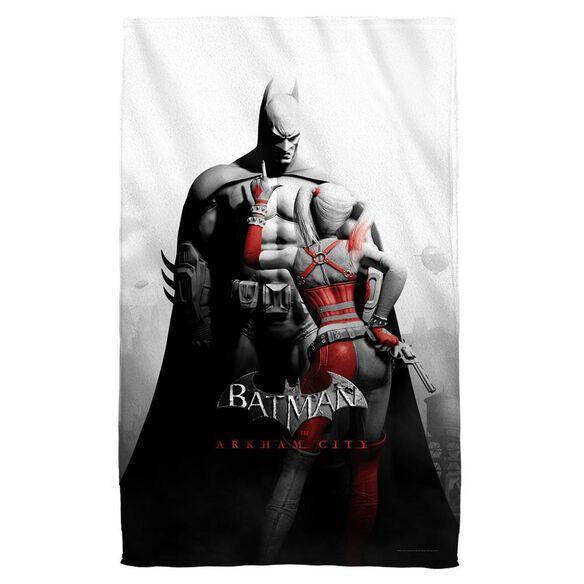 Batman Arkham City Ac Stand Off Towel White