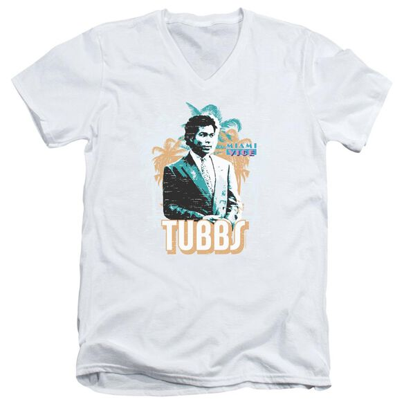 Miami Vice Tubbs Short Sleeve Adult V Neck T-Shirt