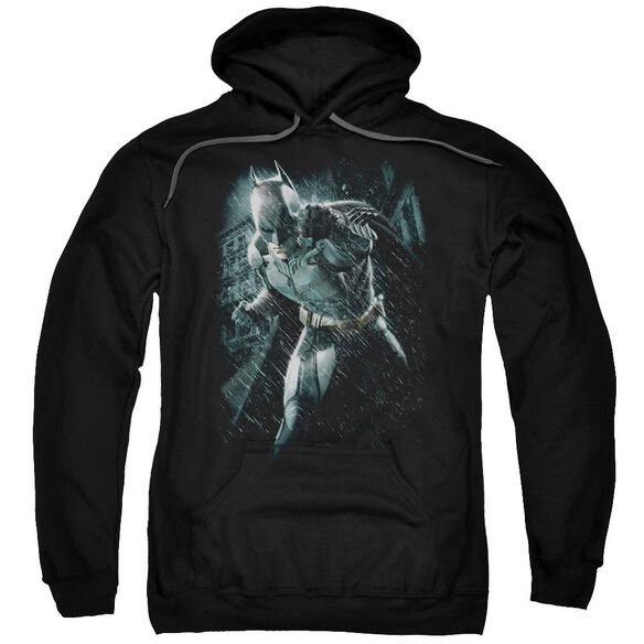 Dark Knight Rises Batman Rain Adult Pull Over Hoodie