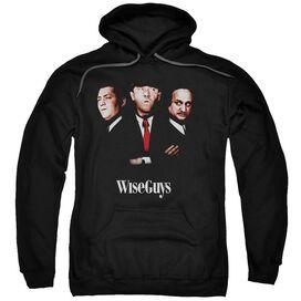 Three Stooges Wiseguys Adult Pull Over Hoodie Black