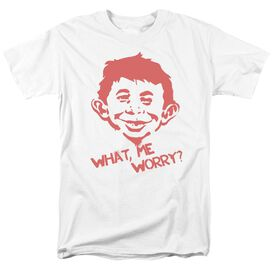 Mad What Me Worry Short Sleeve Adult T-Shirt