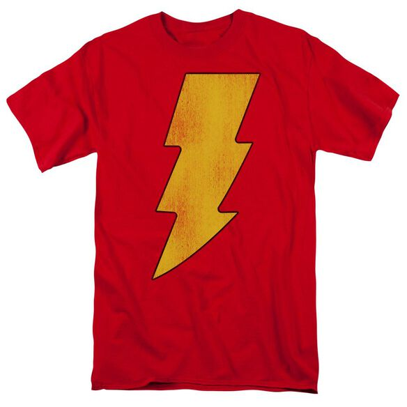 Dc Shazam Logo Distressed Short Sleeve Adult T-Shirt