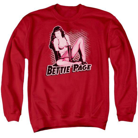Bettie Page Pin Up Queen Adult Crewneck Sweatshirt