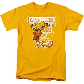 Atari Football Player Short Sleeve Adult Gold T-Shirt