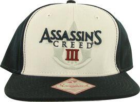 Assassins Creed 3 Logo White Front Snapback Hat
