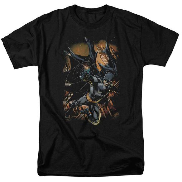 Batman Grapple Fire Short Sleeve Adult T-Shirt