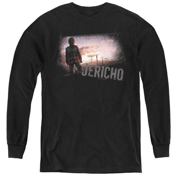 Jericho Mushroom Cloud - Youth Long Sleeve Tee - Black