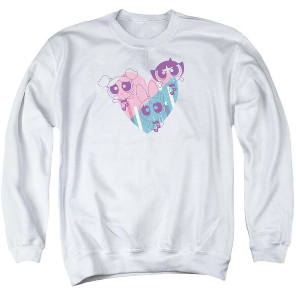 Powerpuff Girls Powerpuff Heart Adult Crewneck Sweatshirt
