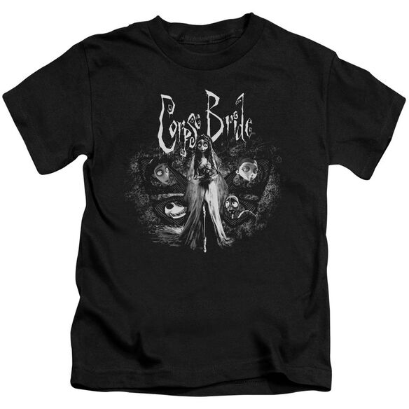 Corpse Bride Bride To Be Short Sleeve Juvenile Black T-Shirt