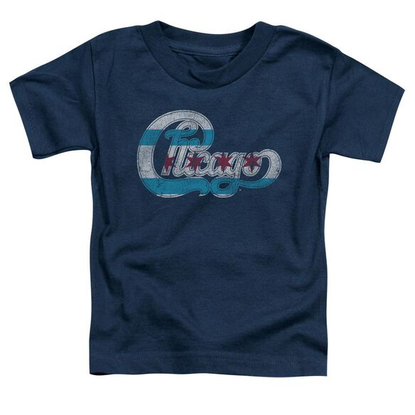 Chicago Flag Logo Short Sleeve Toddler Tee Navy T-Shirt
