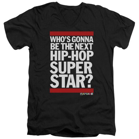 The Rap Game Next Hip Hop Superstar Short Sleeve Adult V Neck T-Shirt