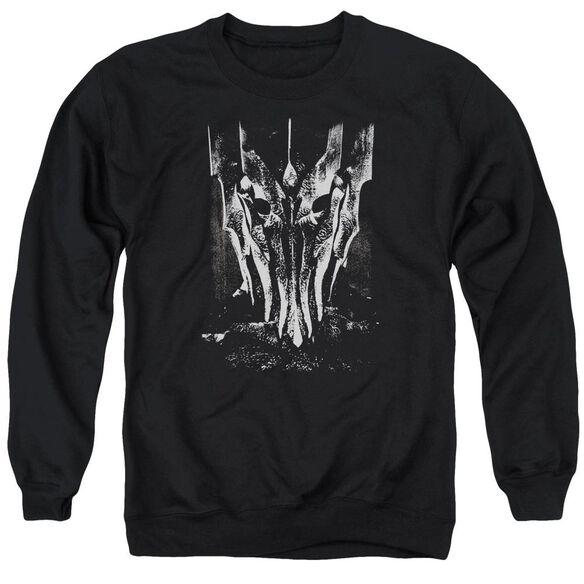 Lor Big Sauron Head Adult Crewneck Sweatshirt