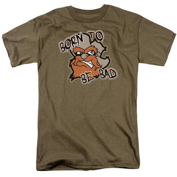 Born To Be Bad Short Sleeve Adult Safari Green T-Shirt
