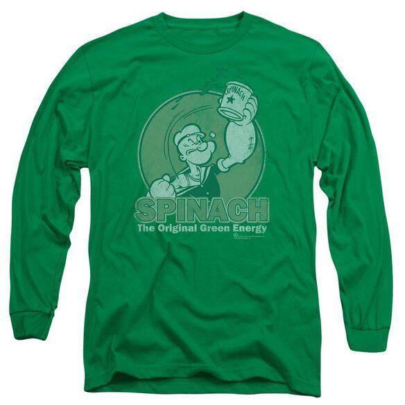 Popeye Energy Long Sleeve Adult Kelly T-Shirt