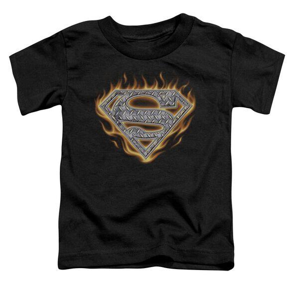 SUPERMAN STEEL FIRE SHIELD-S/S T-Shirt