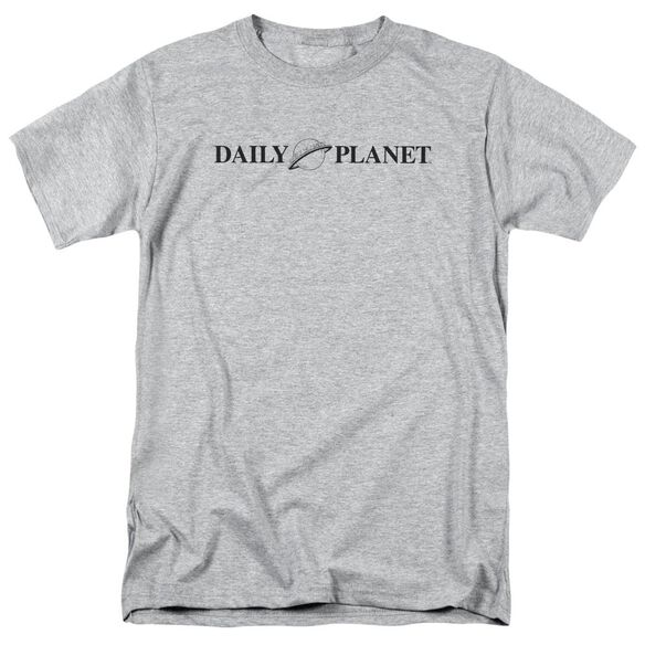Superman Daily Planet Logo Short Sleeve Adult Athletic Heather T-Shirt