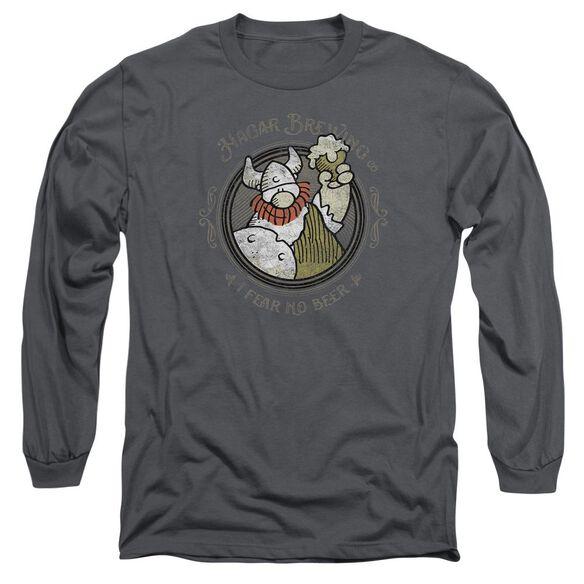 Hagar The Horrible Hagar Brewing Long Sleeve Adult T-Shirt