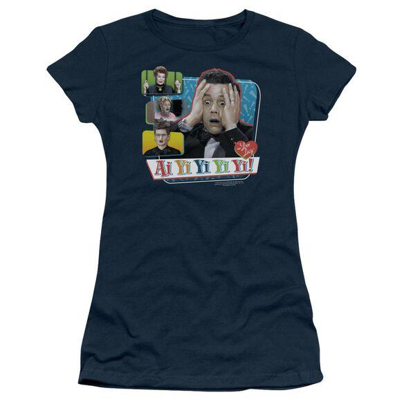 I Love Lucy Ai Yi Yi Yi Yi Short Sleeve Junior Sheer T-Shirt