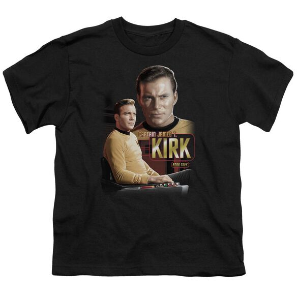 Star Trek Captain Kirk Short Sleeve Youth T-Shirt