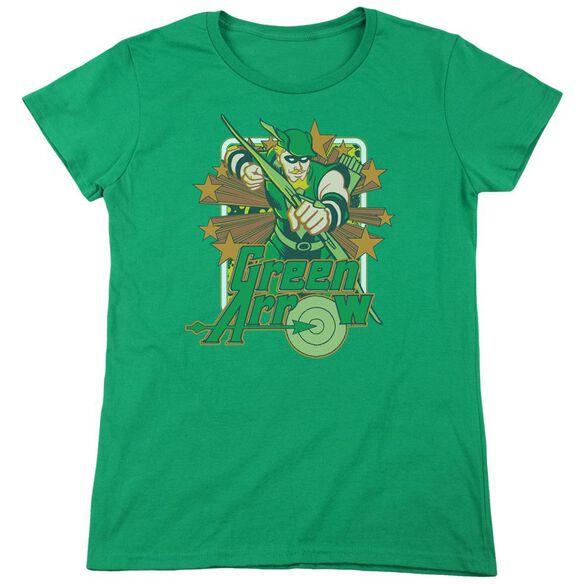 Dc Arrow Stars Short Sleeve Womens Tee Kelly T-Shirt