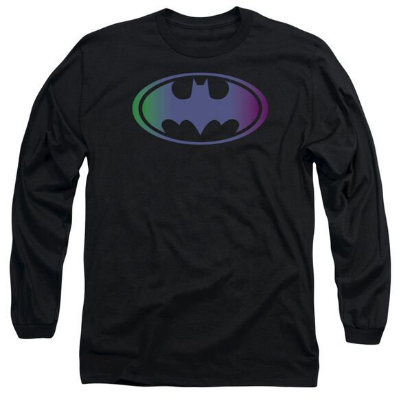 Batman Gradient Bat Logo Long Sleeve Adult T-Shirt