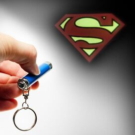 Superman Logo Flashlight Keychain