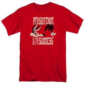 Looney Tunes Persistence Short Sleeve Adult Red T-Shirt
