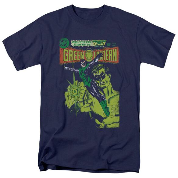 Green Lantern Vintage Cover Short Sleeve Adult Navy T-Shirt