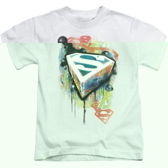 SUPERMAN URBAN SHIELDS - S/S JUVENILE 18/1 - WHITE - T-Shirt