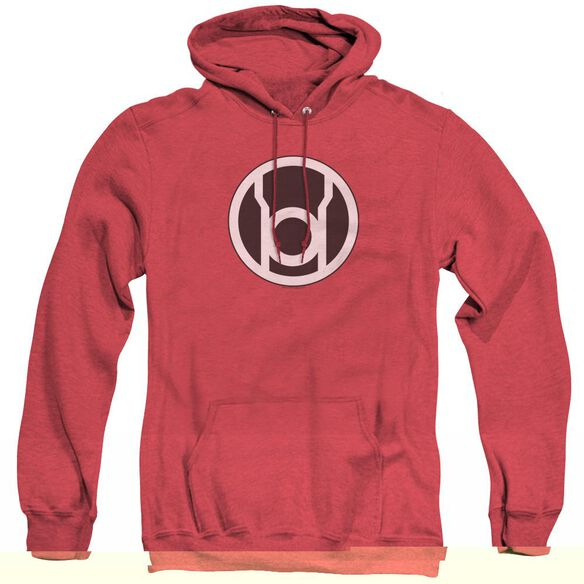 Green Lantern Red Lantern Logo - Adult Heather Hoodie - Red