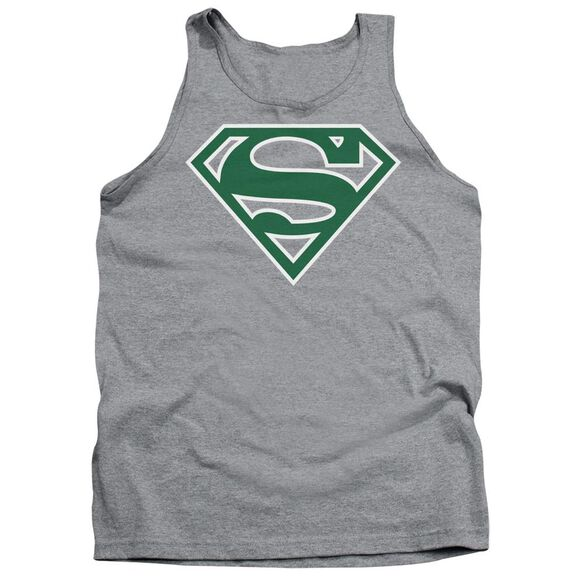 Superman Green & White Shield Adult Tank Athletic