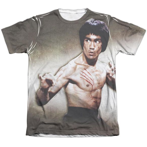 Bruce Lee Scratched Adult 65 35 Poly Cotton Short Sleeve Tee T-Shirt