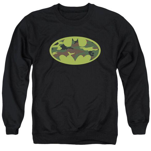 Batman Camo Logo Adult Crewneck Sweatshirt