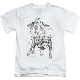 Popeye Walking The Dog Short Sleeve Juvenile White T-Shirt