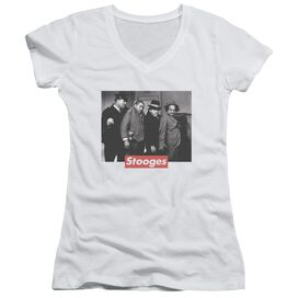 Three Stooges Supreme Rip Junior V Neck T-Shirt