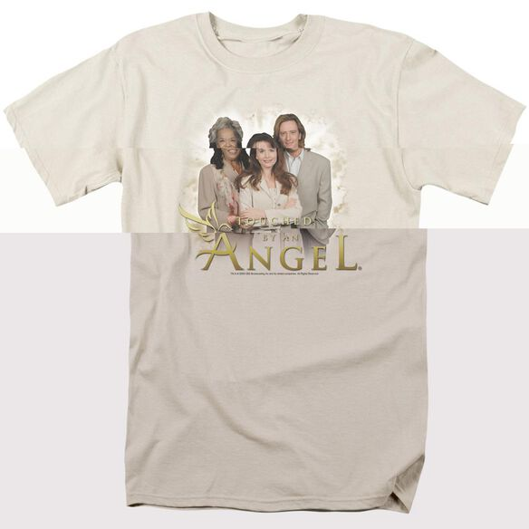 TOUCHED BY AN ANGEL AN ANGEL - S/S ADULT 18/1 - CREAM T-Shirt