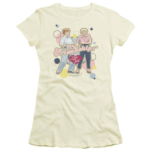 I Love Lucy Its Friendship Short Sleeve Junior Sheer T-Shirt