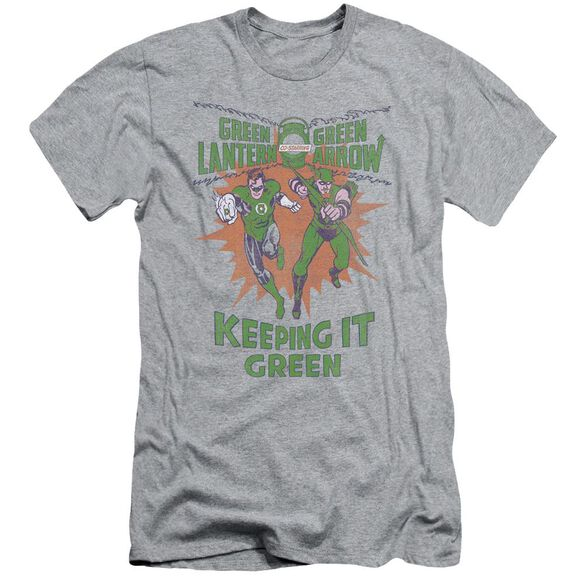 Green Lantern Keeping It Green Short Sleeve Adult Athletic T-Shirt