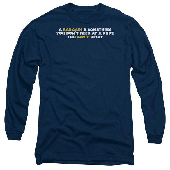 A Bargain Long Sleeve Adult T-Shirt